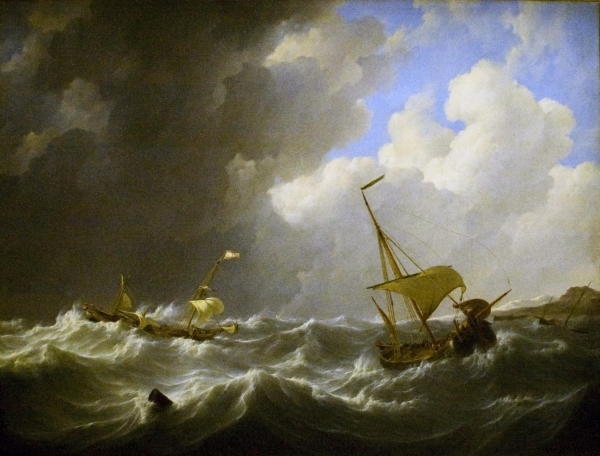 image of storm with ships